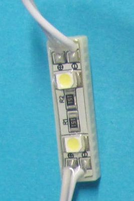 LED modul 2x3528 mini bílá, IP65, 12V/0,25W 26x7mm